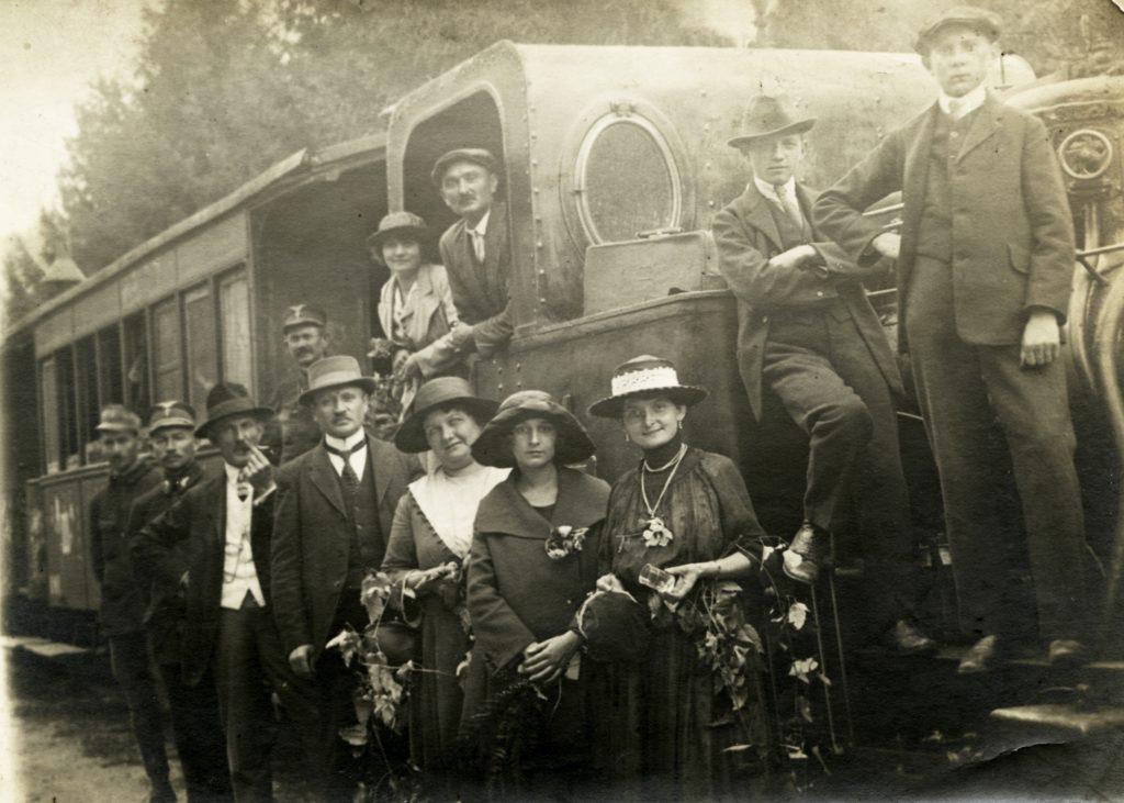 A Borossebes–Menyháza (Sebiș– Moneasa) kisvasút 1918-ban. Forrás: fortepan.hu