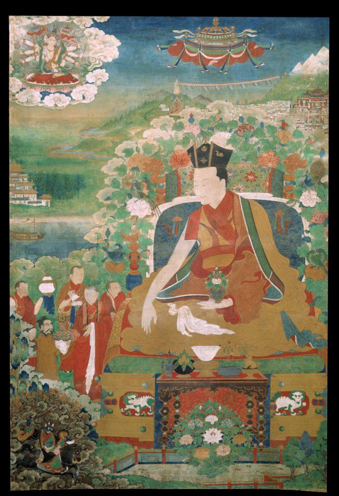 A 9. karmapa láma, Wangchuk Dorje (1556–1603), a tibeti buddhizmus karma-kagyü iskolájának vezetője. Wangchuk Dorje nem csak szellemi vezetőként működött, hanem közvetített politikai-katonai konfliktusokban közv