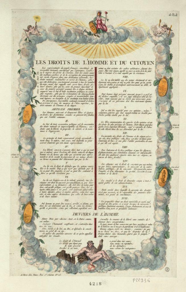 Az Emberi és polgári jogok nyilatkozata a felvilágosodás egyik alapdokumentuma. 1789. augusztus 26-án fogadta el a forradalmi Alkotmányozó Nemzetgyűlés Párizsban