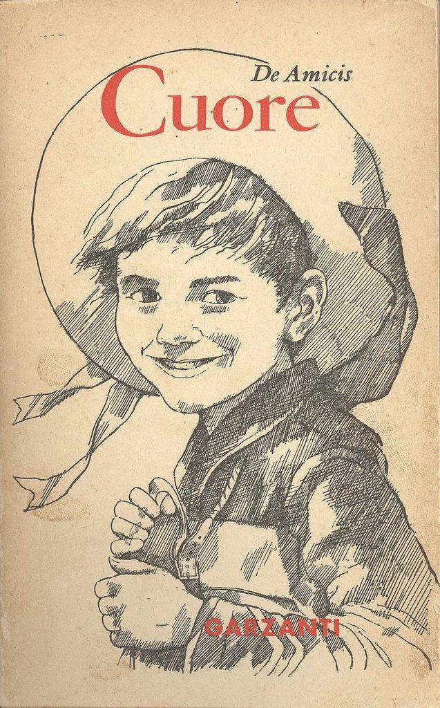 Edmondo de Amicis Szív című regényének borítója az első kiadáson