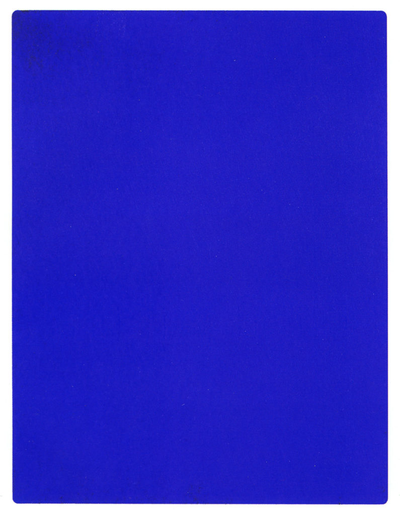 IKB 191, Yves Klein monokróm festménye, 1962. (Forrás: Wikimedia Commons)