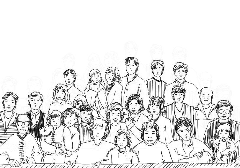 все большая семья рисунок карандашом них