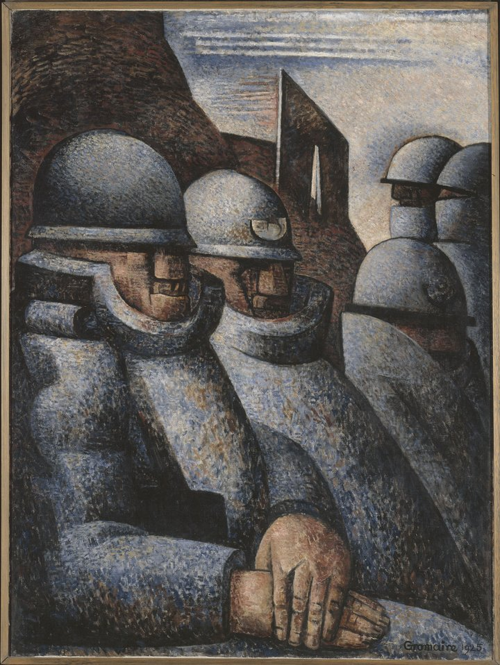 Marcel Gromaire (1892–1971): A háború. Olaj, vászon, 1925. Párizs, Modern Művészeti Múzeum