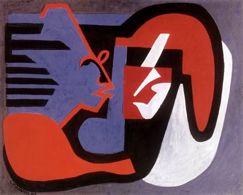 Tihanyi Lajos: Beszélgetők (1928; olaj, fa; magántulajdon)