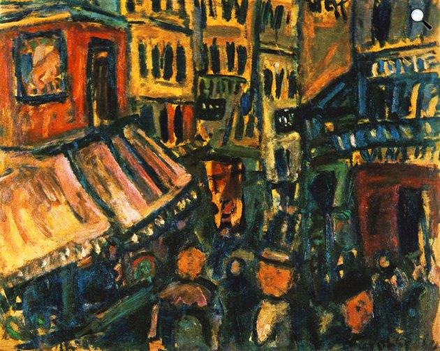 Czóbel Béla: Párizsi utca (1926; olaj, vászon)