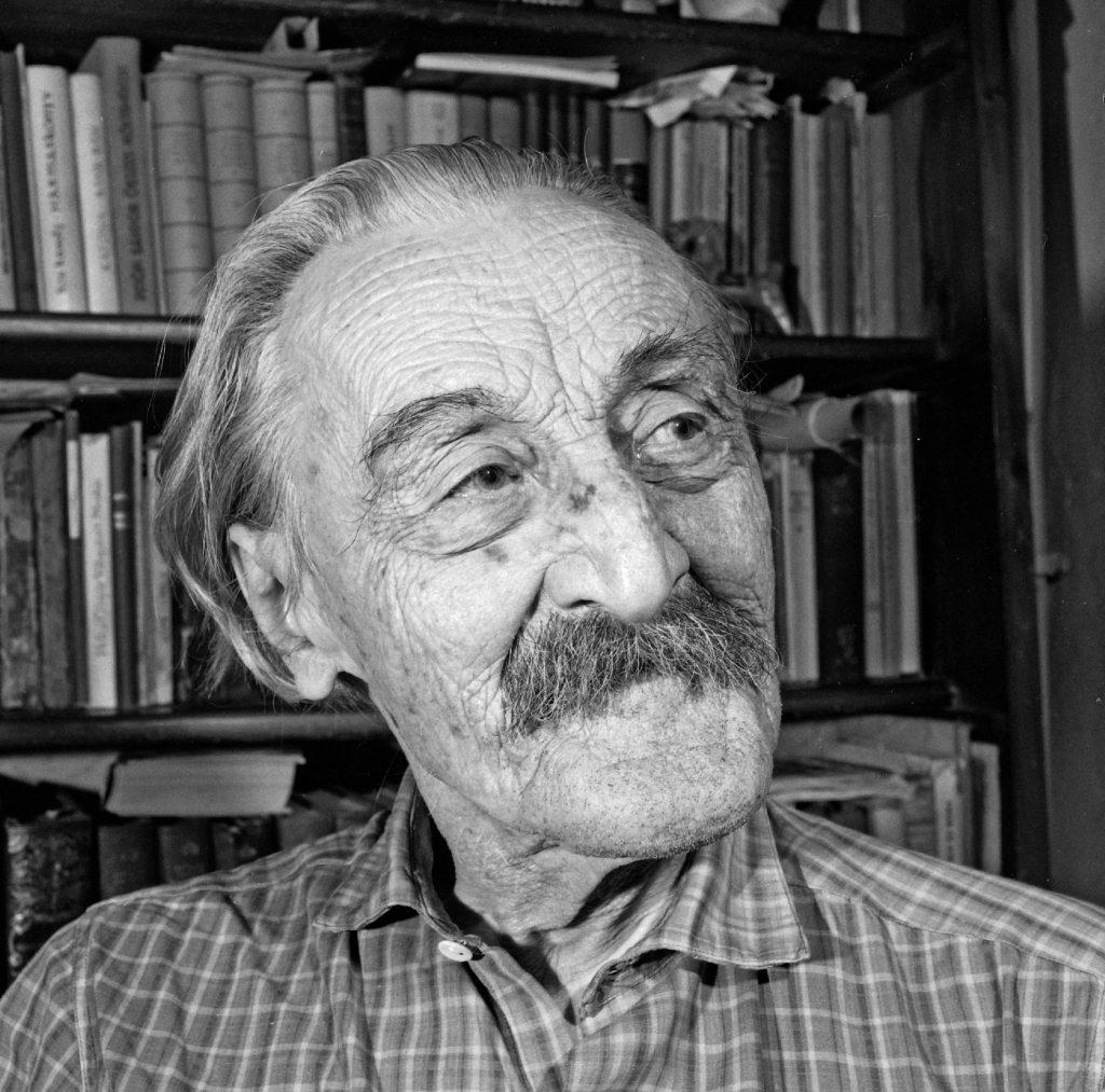 Kós Károly (1883–1977) 1969-ben Kolozsváron. Fotó: Becságh István, forrás: Azopan.ro, Fortepan.hu