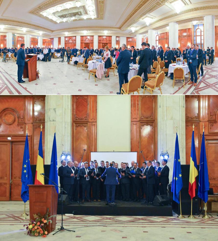 """A bukaresti parlament ökumenikus imacsoportja 2018. október 17-18. között immár tizenharmadik alkalommal szervezte meg az imareggelit, majd """"Nemzeti egység a keresztény identitásban"""" címmel tartottak konferenciát, szintén a parlamentben"""
