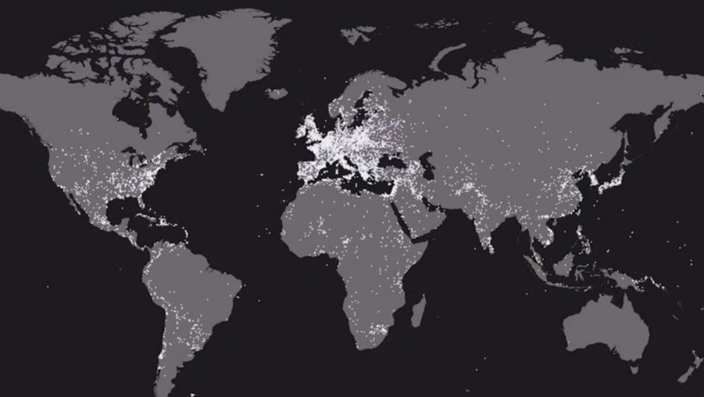 A világ összes háborúja (a Cottereau Youtube-csatorna adatvizualizációja)